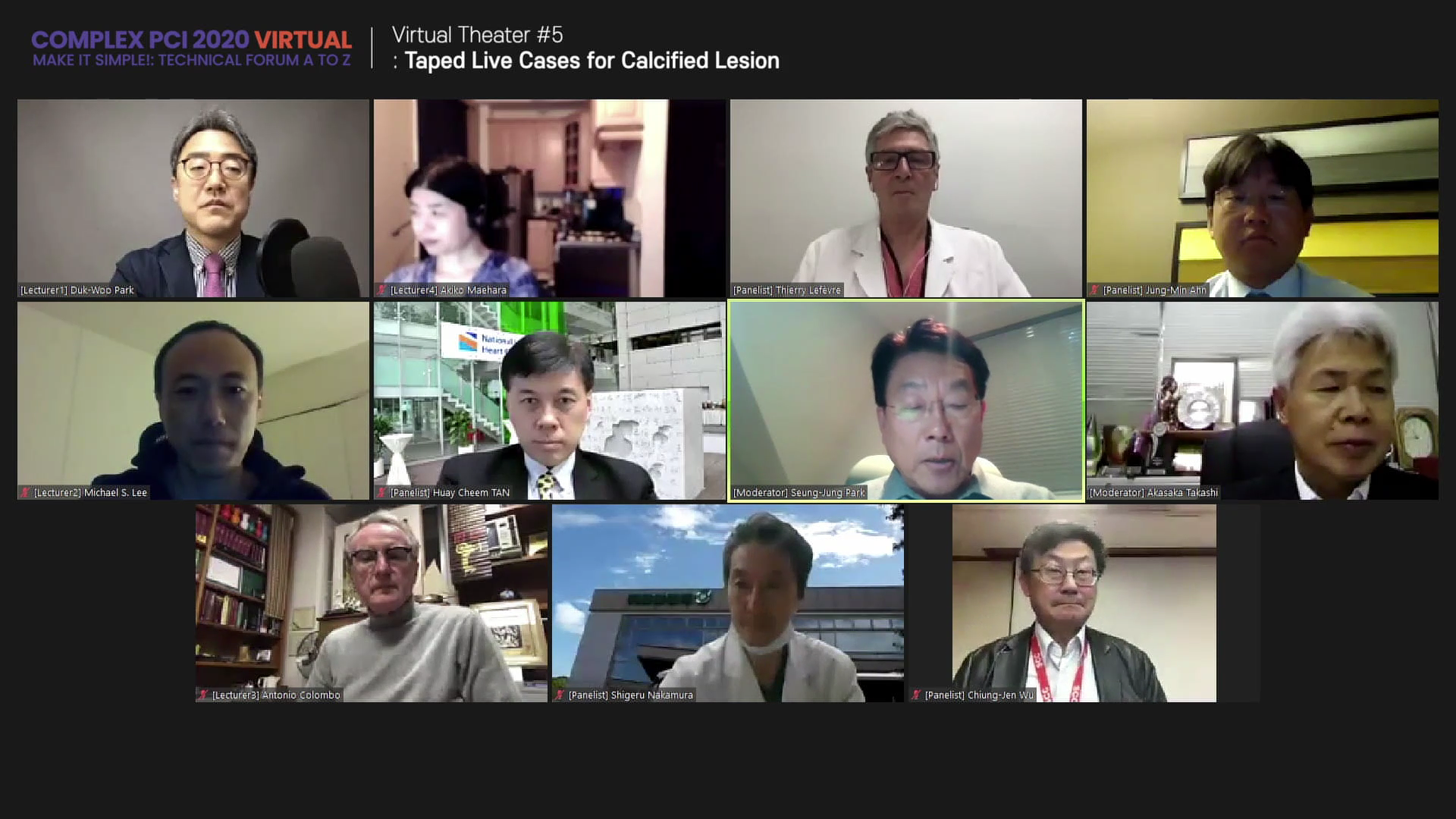 Virtual Theater #5: Taped Live Cases for Calcified Lesion