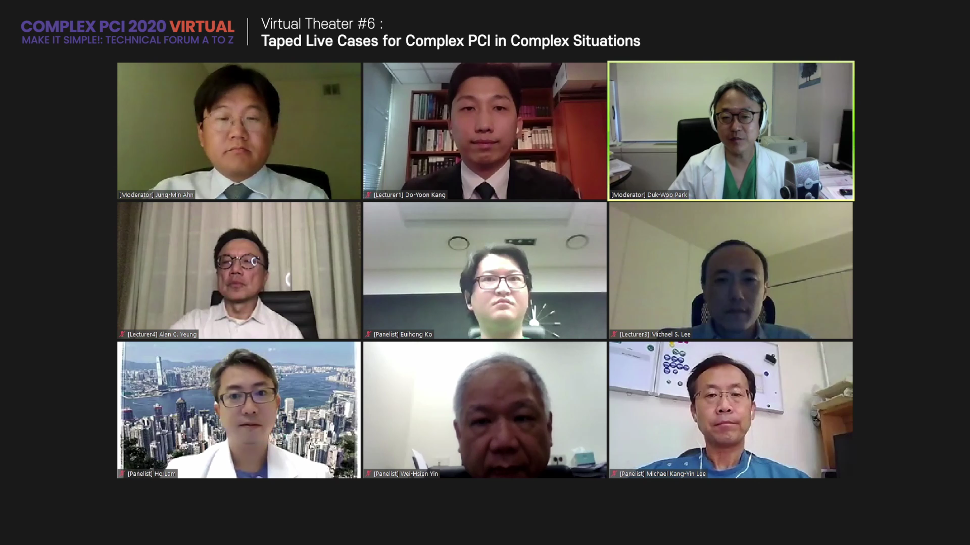 Virtual Theater #6: Taped Live Cases for Complex PCI in Complex Situations
