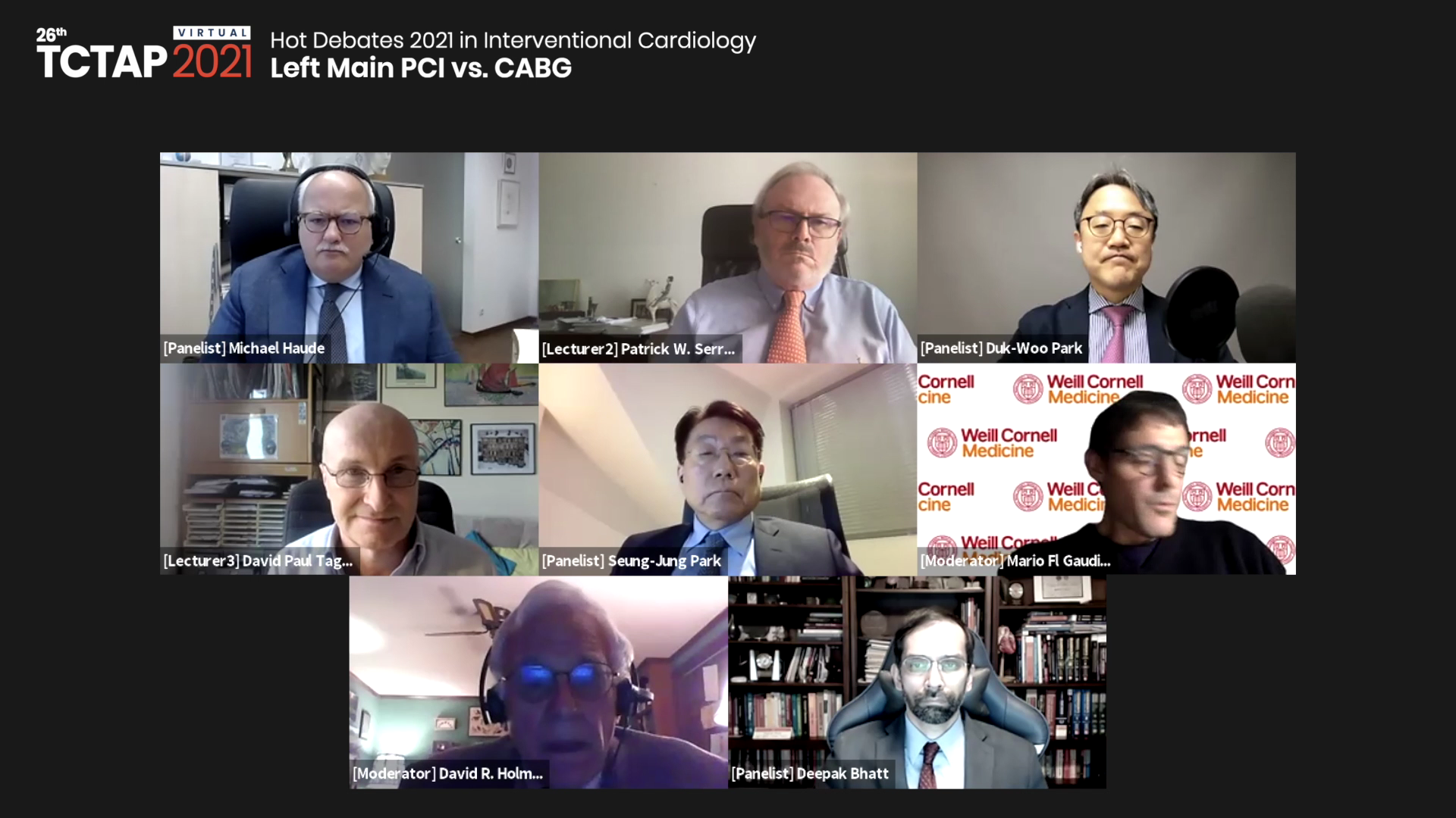 [TCTAP 2021 Virtual] Hot Debates 2021 in Interventional Cardiology - Left Main PCI vs. CABG