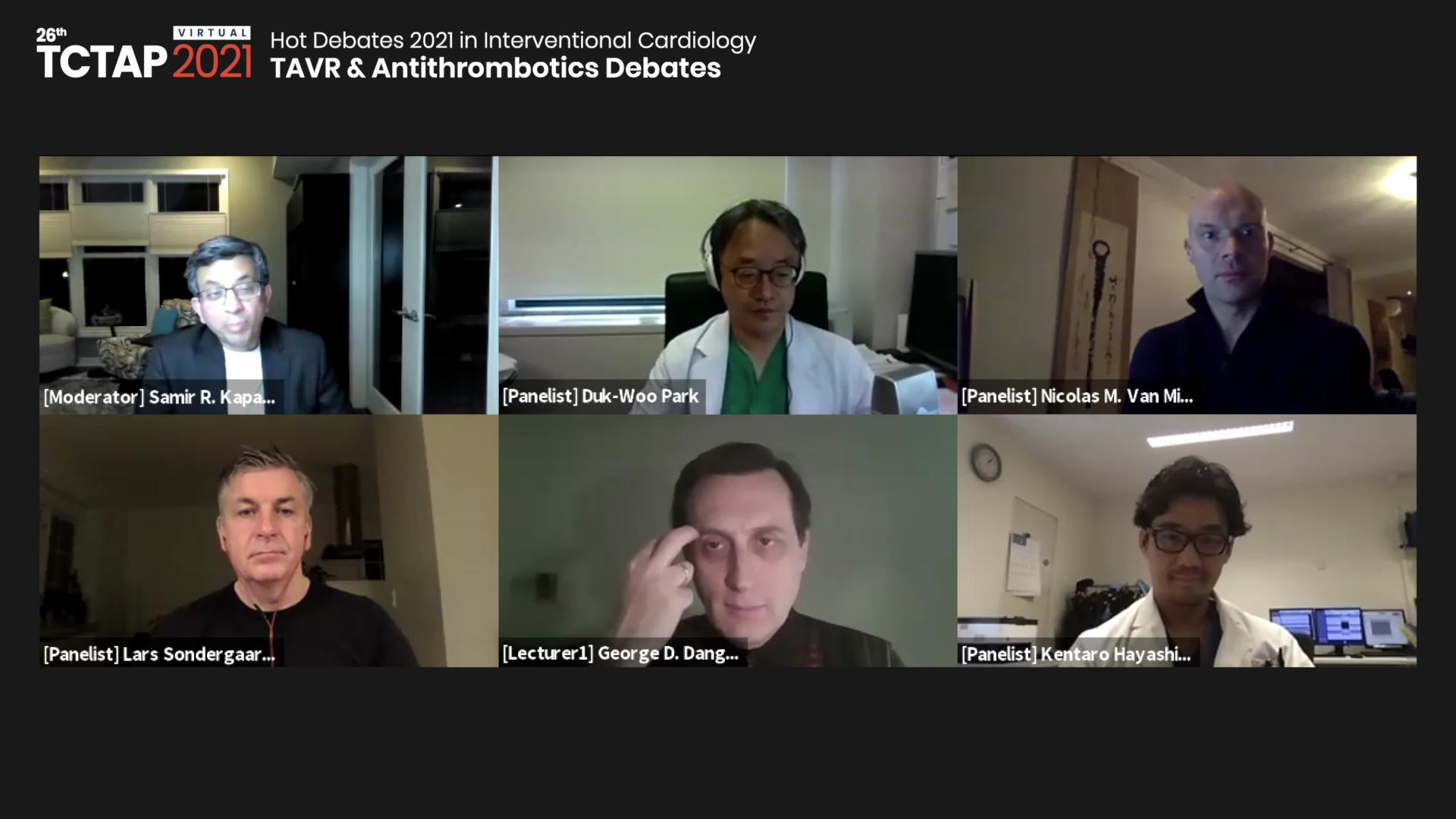 [TCTAP 2021 Virtual] Hot Debates 2021 in Interventional Cardiology - TAVR & Antithrombotics Debates