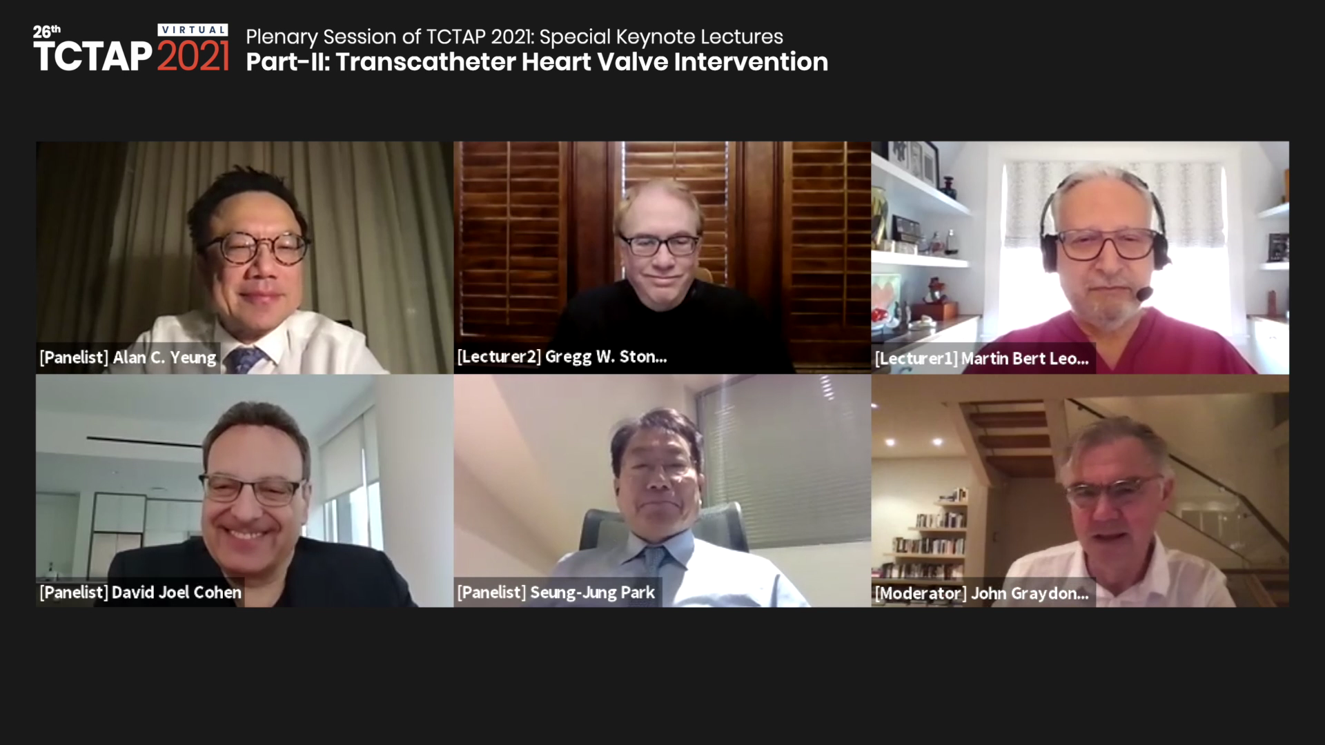 [TCTAP 2021 Virtual] Plenary Session of TCTAP 2021: Special Keynote Lectures - Part-II: Transcatheter Heart Valve Intervention