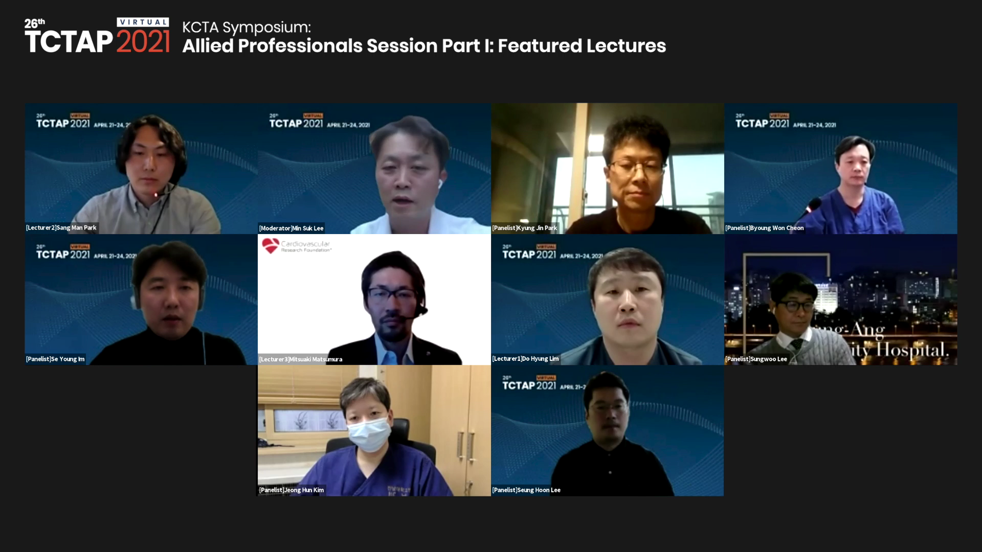 [TCTAP 2021 Virtual] KCTA Symposium: Allied Professionals Session - Part I: Featured Lectures