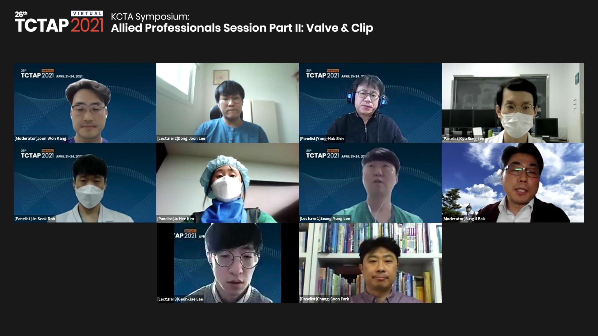 [TCTAP 2021 Virtual] KCTA Symposium: Allied Professionals Session - Part II: Valve & Clip