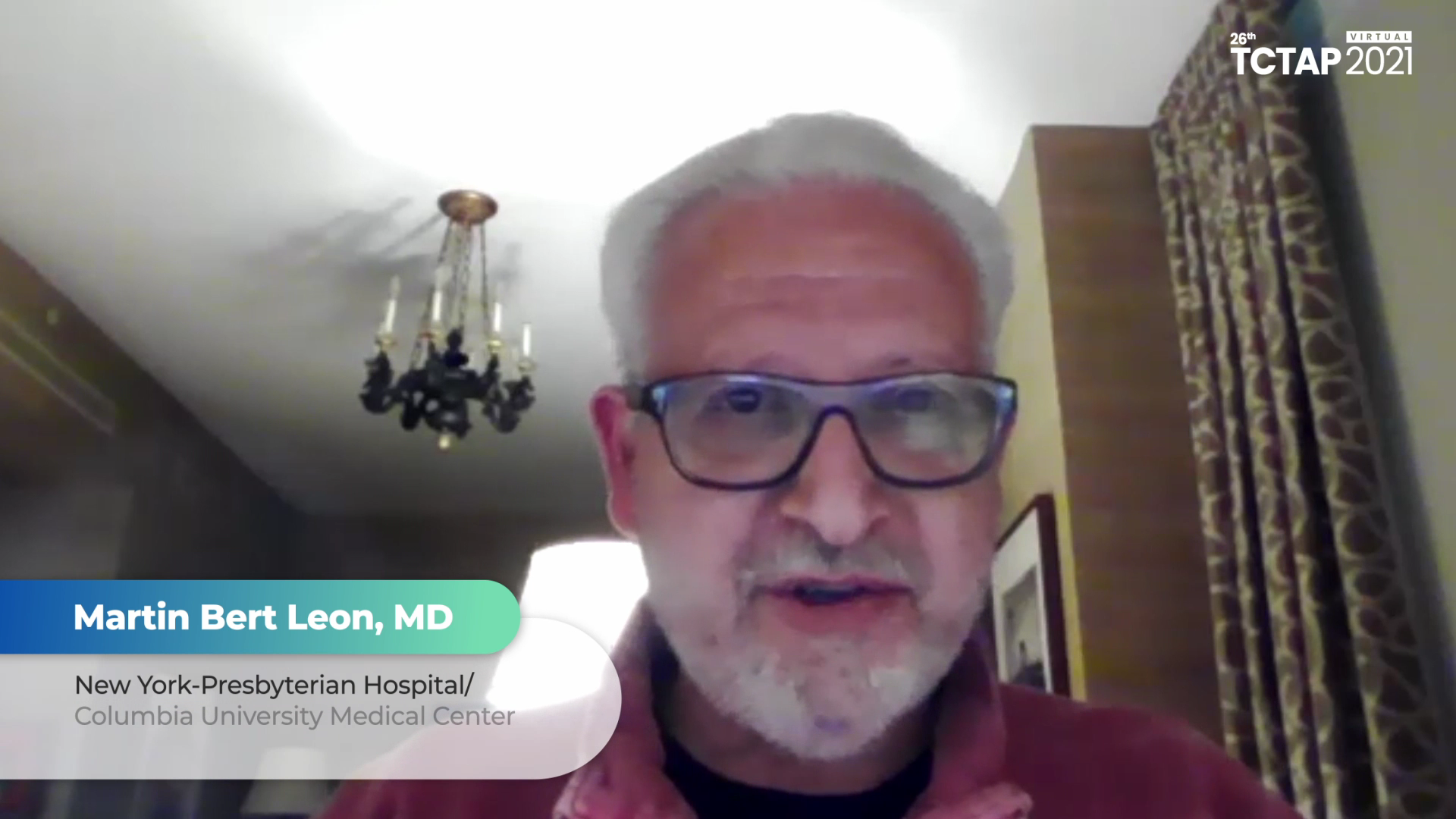 Congratulatory Message to TCTAP 2021 Virtual from Martin Bert Leon, MD