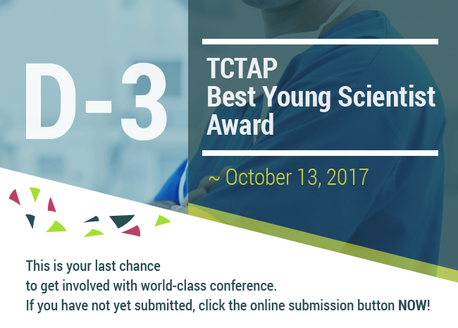 D-3 TCTAP BEST YOUNG SCIENTIST AWARD ~ October 13, 2017