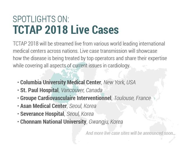 SPOTLIGHT ON: TCTAP 2018 Live Cases