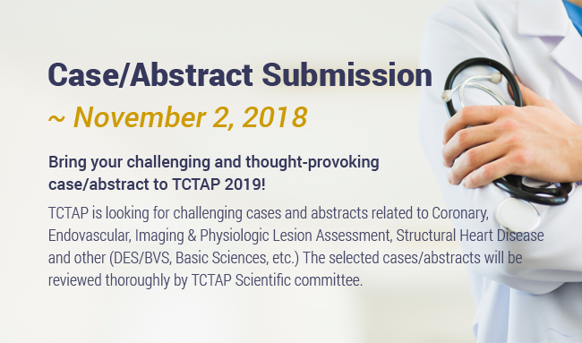 Case/Abstract Submission ~ November 2, 2018