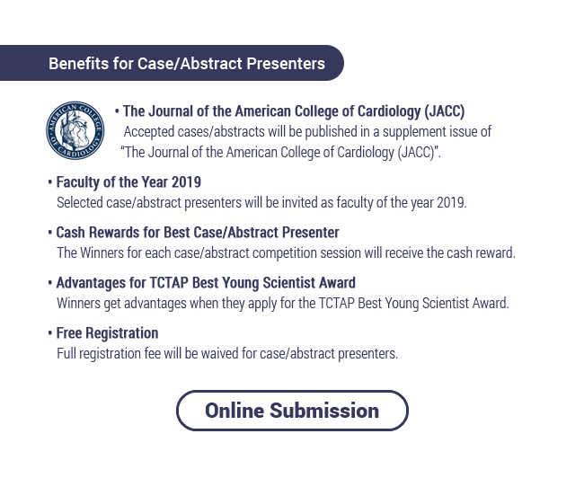 Benefits for Case/Abstract Presenters / Online Submission