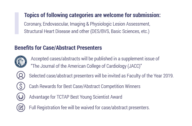 Benefits for Case/Abstract Presenters
