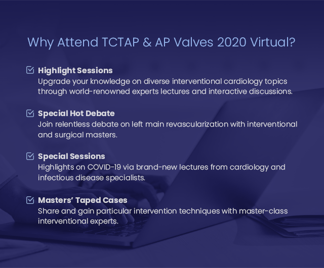 Why Attend TCTAP & AP VALVES 2020 Virtual?