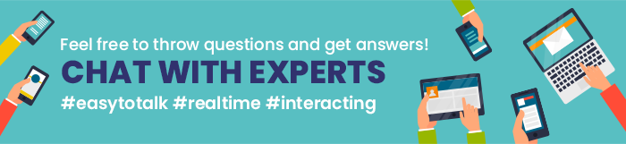 Feel free to throw questions and get answers!CHAT WITH EXPERTS