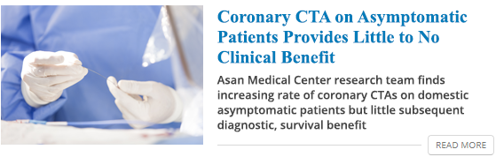 Coronary CTA on Asymptomatic Patients Provides Little to No Clinical Benefit