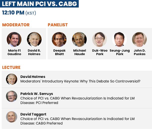 Left Main PCI vs. CABG - 11:55 AM(KST)