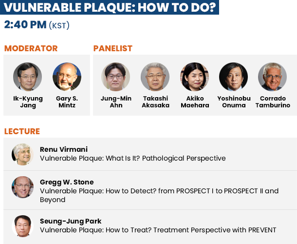 Vulnerable Plaque: How to Do? - 2:25 PM(KST)