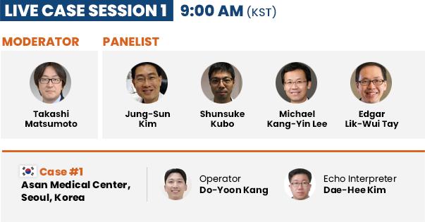 Live Case Session 1  - 9: 00 AM (KST)