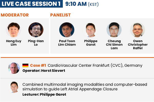 Live Case Session 1  - 9:10 AM (KST)