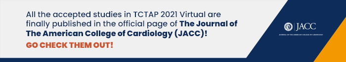All the accepted studies in TCTAP 2021 Virtual are finally published in the official page of The Journal of The American College of Cardiology (JACC)! Go check them out!