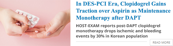 In DES-PCI Era, Clopidogrel Gains Traction over Aspirin as Maintenance Monotherapy after DAPT