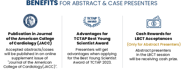 Benefits for Abstract & Case Presenters