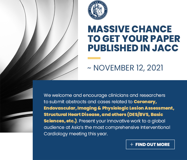 MASSIVE CHANCE TO GET YOUR PAPER PUBLISHED IN JACC ~ November 12, 2021